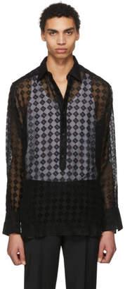 Givenchy Black Silk Four G Logo Shirt