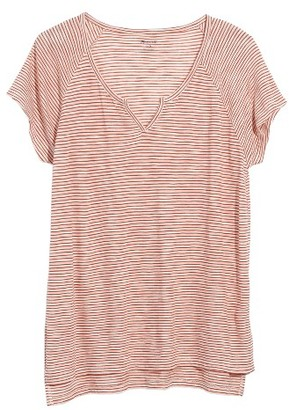 Women's Madewell Choral Split Neck Tee $42 thestylecure.com
