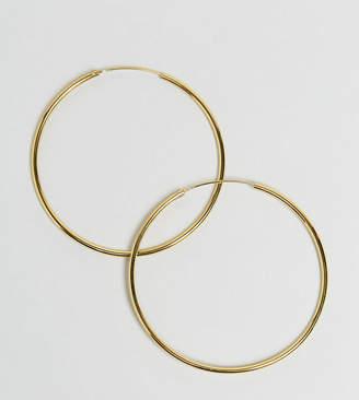 Asos (エイソス) - ASOS Gold Plated Sterling Silver 60mm Hoop Earrings