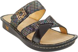 Alegria Leather Multi-Strap Slide Sandals - Victoriah