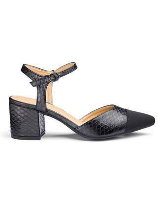 20141e91cff Jd Williams Block Heel Toe Cap Shoes E Fit