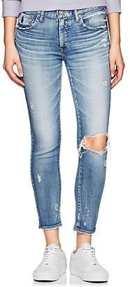 Moussy VINTAGE Women's Ridgewood Mid-Rise Skinny Jeans - Blue