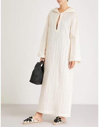 Marysia Swim Hooded cotton-broderie anglaise dress
