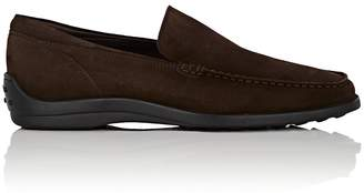 Tod's MEN'S PANTOFOLA SUEDE VENETIAN LOAFERS