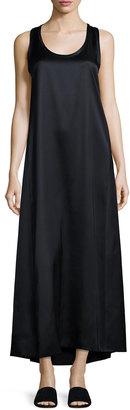 Helmut Lang Long Racerback Tank Dress, Navy $399 thestylecure.com