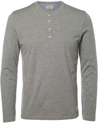 Selected Circular Knit Henley T-Shirt