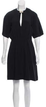 Chloé Short Sleeve Front Clip Dress