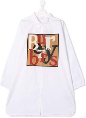 Burberry contrast logo shirt