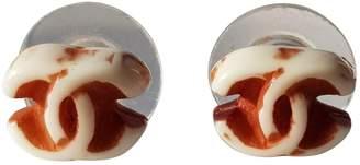 Chanel Brown Plastic Earrings