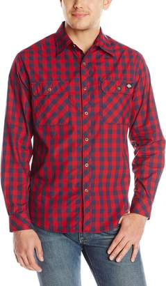 Dickies Men's Long Sleeve Buffalo Plaid