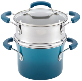 Gradient Non-Stick Saucepot and Steamer Insert Set (3 PC)