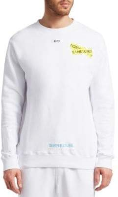 Off-White Graphic Cotton Sweatshirt
