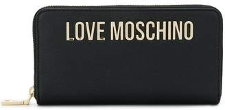 Love Moschino (ラブ モスキーノ) - Love Moschino logo plaque wallet