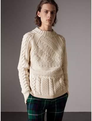 Burberry Wool Cashmere Aran Sweater