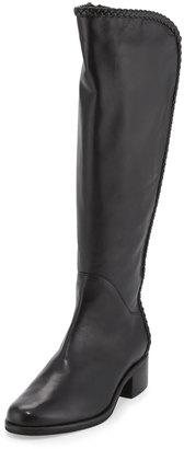 Sesto Meucci Nattie Braided Leather Knee Boot, Black $350 thestylecure.com