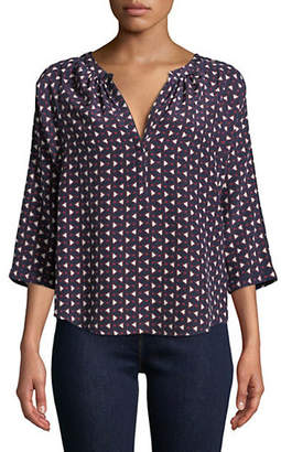 Joie Printed Silk Shirt
