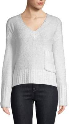 ATM Anthony Thomas Melillo Chenille V-Neck Pullover