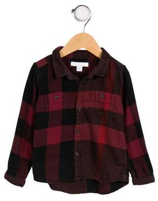 Burberry Boys's Long Sleeve Button-Up Top