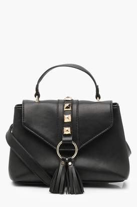 boohoo Stud & Tassel Cross Body Bag