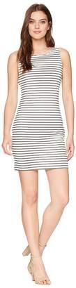 BB Dakota Karen Striped Ponte Bodycon Dress with Back Elastic Women's Dress