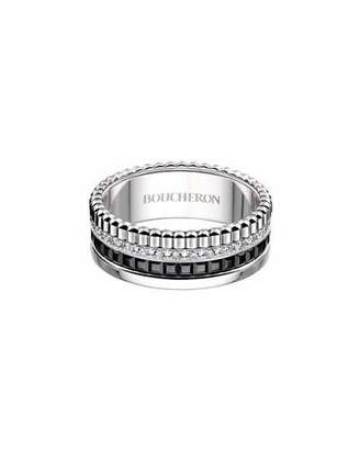 Boucheron Small Quatre Black Edition Diamond Band, Size 54