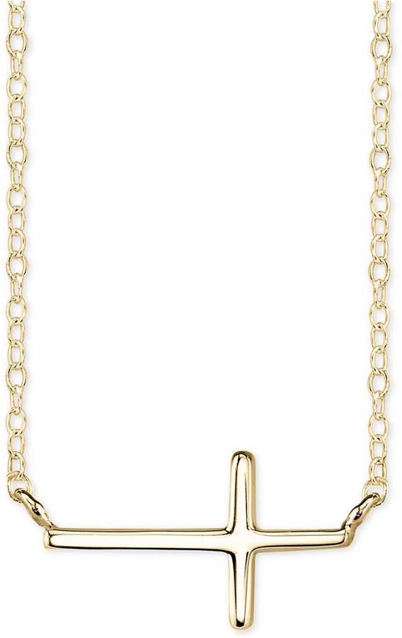 Unwritten East-West Cross Pendant Necklace in Sterling Silver