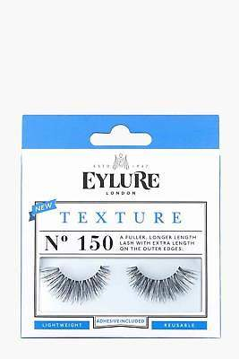 boohoo NEW Womens Eylure Texture False Lashes - 150 in Black size One Size