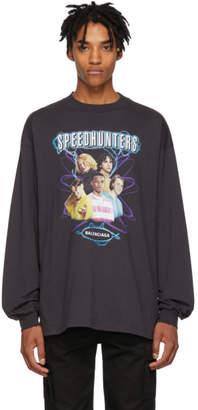 Balenciaga Black Speedhunters Long Sleeve T-Shirt