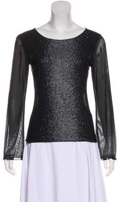 Gianni Versace Embellished Sheer Top