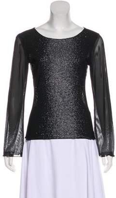 Gianni Versace Embellished Sheer Top