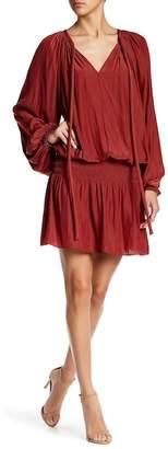 Ramy Brook Paris Long Sleeve Drop Waist Dress