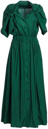 By Any Other Name Shirred Waist Linen Tea Dress