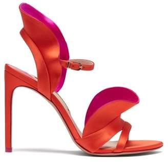 Sophia Webster Lucia ruffle-embellished satin sandals