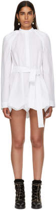 J.W.Anderson White Floating Sleeve Short Dress