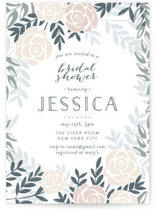 Fantasy Floral Bridal Shower Invitations