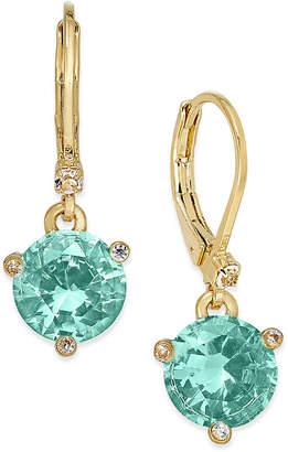 Kate Spade Gold-Tone Crystal Drop Earrings