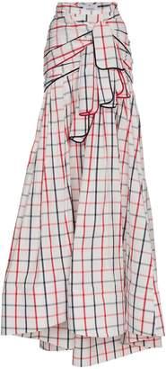 Tri Tie checked maxi skirt