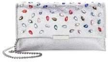 Loeffler Randall Embellished Metallic Clutch