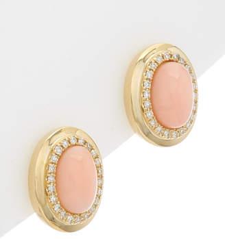 Effy Fine Jewelry 14K 1.52 Ct. Tw. Diamond & Coral Earrings