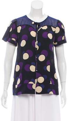 Marc by Marc Jacobs SIlk Printed Blouse