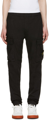 Stone Island Black Cargo Pants $305 thestylecure.com