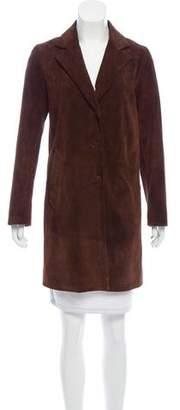 agnès b. Suede Notch-Lapel Jacket