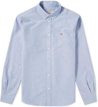 MAISON KITSUNÉ Fox Head Patch Button Down Oxford Shirt