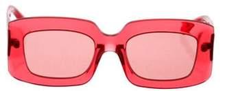 Karen Walker Square Tinted Sunglasses Red Square Tinted Sunglasses