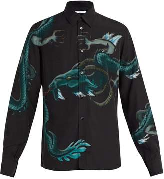 Givenchy Dragon-print crepe shirt