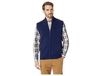 Chaps Cotton-Zip Sweater Vest