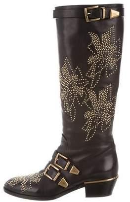 Chloé Susanna Studded Knee-High Boots