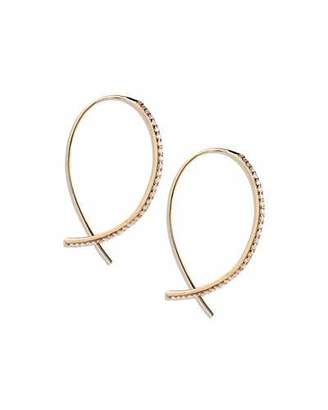 Lana Fatale Small Upside Down Hoops with Diamonds