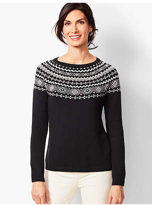 Talbots Fair Isle Crewneck Sweater