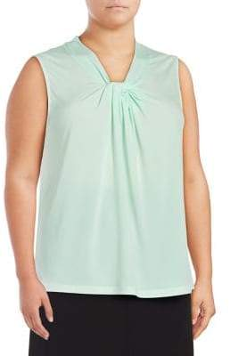 Calvin Klein Plus Sleeveless Knotted Top